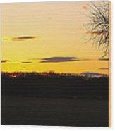 Inspirational Sunset  Wood Print