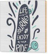 Inspirational Vintage Lettering Wood Print