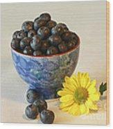 Inspired By Blue Berries Wood Print