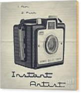Instant Artist Wood Print by Edward Fielding