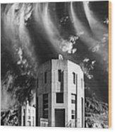 Intake Tower Hoover Dam Wood Print