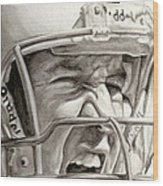 Intensity Peyton Manning Wood Print