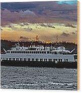 Inter-island Ferry Wood Print