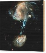 Interacting Galaxies Group Arp 194 Wood Print