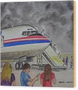 Interam Airlines Flight One Clearwater Florida To Bristol England Wood Print