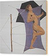 Intercepted Seven Figures In Limbo Wood Print