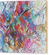 Interchange Between Ambition And Restraint 2 Wood Print by David Baruch Wolk