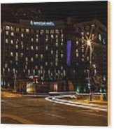 Intercontinental Hotel Wood Print