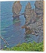 Interesting Rock Shapes In Trinity Bay Near Skerwink Trail-nl Wood Print