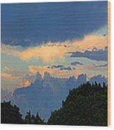 Interesting Sky Wood Print