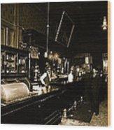 Interior Cabinet Saloon 68 W. Congress Tucson Arizona  C.1910-2011 Wood Print