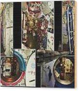 Interior Hatches Collage Russian Submarine Wood Print