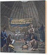 Interior Of A Kalmuk Yurt, 1812-13 Wood Print