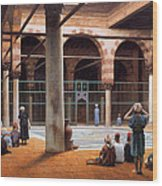 Interior Of A Mosque Wood Print