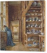 Interior Of A Panelled House Wood Print