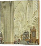 Interior Of Antwerp Cathedral, C.1668 Wood Print
