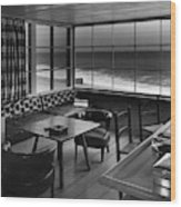 Interior Of Beach House Owned By Anatole Litvak Wood Print