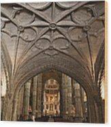Interior Of Jeronimos Monastery Church In Lisbon Wood Print