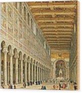 Interior Of San Paolo Fuori Le Mura Wood Print