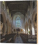 Interior Of St Mary's Church In Rye Wood Print