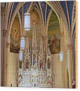 Interior Of St. Mary's Church Wood Print