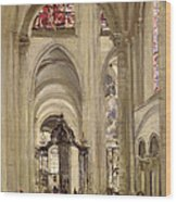 Interior Of The Cathedral Of St. Etienne, Sens Wood Print