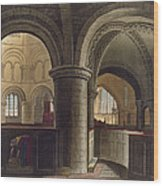 Interior Of The Church Of The Holy Wood Print