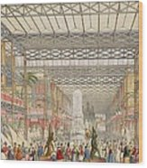 Interior Of The Crystal Palace, Pub Wood Print