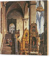 Interior Of The Dominican Church In Krakow Wood Print