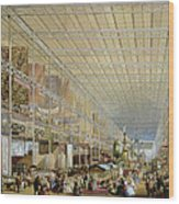 Interior Of The Great Exhibition Of All Wood Print