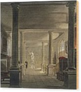 Interior Of The Law School, Cambridge Wood Print