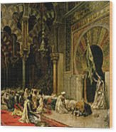 Interior Of The Mosque At Cordoba Wood Print
