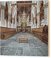 Interior Of The Oude Kerk In Amsterdam Wood Print