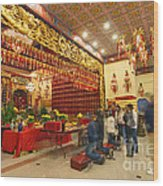 Interior Of Thien Hau Temple A Taoist Temple In Chinatown Of Los Angeles Wood Print