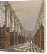 Interior Of Trinity College Library Wood Print