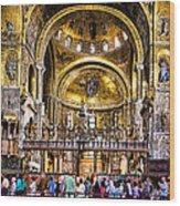 Interior St Marks Basilica Venice Wood Print