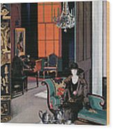 Interior - The Orange Blind, C.1928 Wood Print