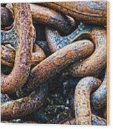 Interlocked Wood Print by Christi Kraft