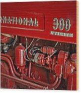 International 300 Utility Harvester Wood Print by Susan Candelario