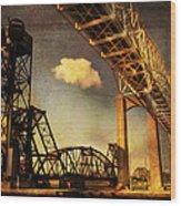 International Bridge To Canada Wood Print