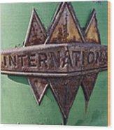 International Harvester Insignia Wood Print