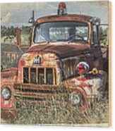International Harvester Wood Print by Tracy Munson