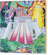 International Incident Mexico Wood Print