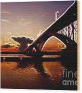 International Peace Bridge Wood Print