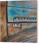 International Pickup Hood Wood Print by Dick Wood