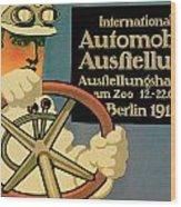 Internationale Automobile Ausftellung Wood Print