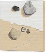 Interrupted IIi Against The Tide Wood Print