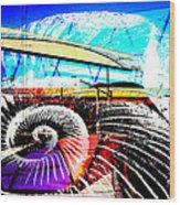 Interstate 10- Cushing St Overpass- Rectangle Remix Wood Print