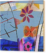 Interstate 10- Exit 256- Grant Rd Underpass- Rectangle Remix Wood Print