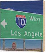 Interstate 10 Highway Signs Wood Print